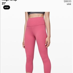 "Lululemon size 6 crop in 21"" Align leggings!"